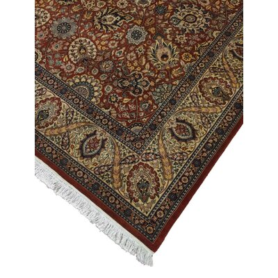 Cleasby Hand Knotted Wool Rust Area Rug