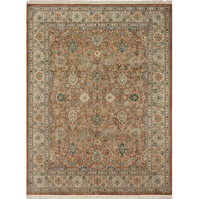 One-of-a-Kind Cleasby Hand Knotted Rectangle Wool Brown/Beige Area Rug