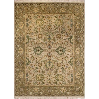 One-of-a-Kind Malone Hand Knotted Wool Beige Area Rug