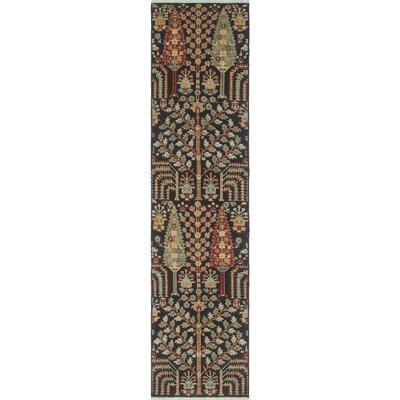 Woodmoor Chobi Hand Knotted Wool Black Area Rug