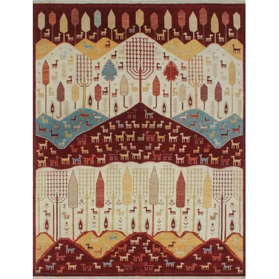 Woodmoor Chobi Hand Knotted Wool Ivory Oriental Area Rug