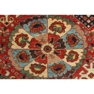Woodmoor Chobi Hand Knotted Wool Rectangle Rust Area Rug