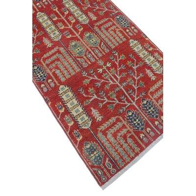 Woodmoor Chobi Hand Knotted Wool Rust Oriental Area Rug