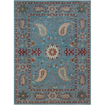 Woodmoor Chobi Hand Knotted Wool Blue Oriental Fringe Area Rug