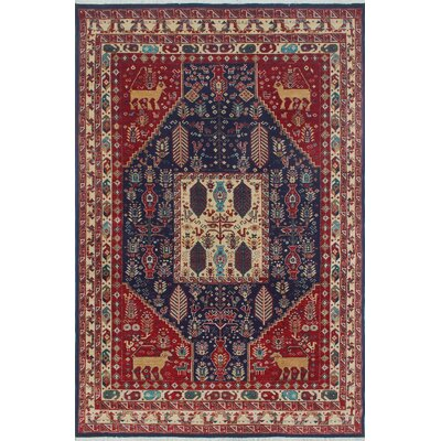 Woodmoor Chobi Hand Knotted Wool Blue Fringe Area Rug