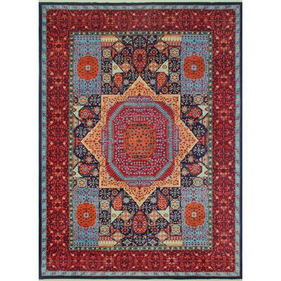 Woodmoor Chobi Hand Knotted Premium Wool Rectangle Blue Oriental Area Rug
