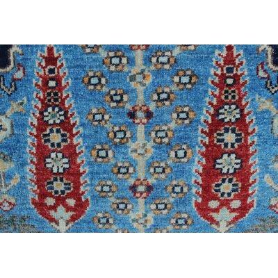 Woodmoor Chobi Hand Knotted Premium Wool Blue Fringe Area Rug