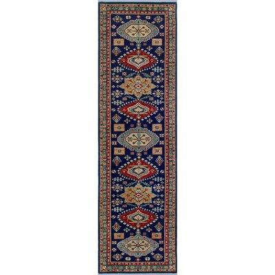 Woodmoor Chobi Hand Knotted Wool Blue Oriental Area Rug