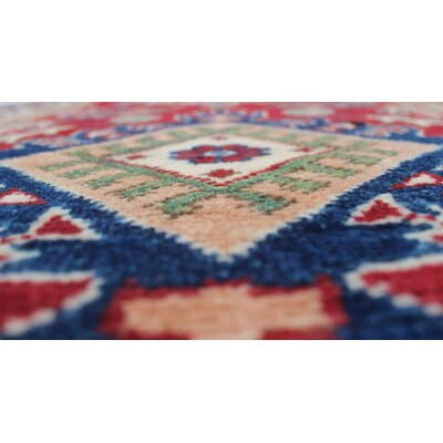 Saigo Oriental Hand Knotted Wool Red Area Rug