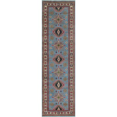 Creekside Kazak Hand Knotted Wool Blue Area Rug