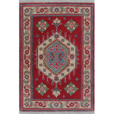 Brouillette Kazak Hand Knotted Wool Red Area Rug Rug Size: Rectangle 111 x 210