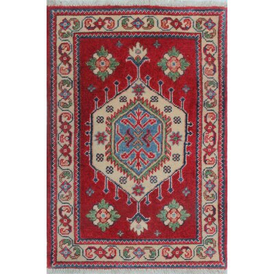 Brouillette Kazak Hand Knotted Wool Red Area Rug Rug Size: Rectangle 110 x 210