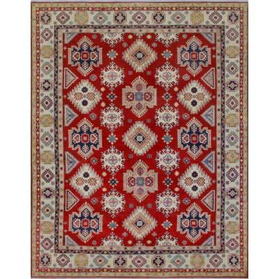 Brownfield Kazak Hand Knotted Wool Red Area Rug