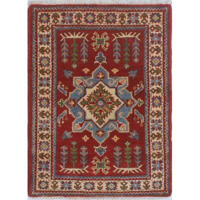 Broyles Kazak Hand Knotted Wool Red Area Rug Rug Size: Rectangle 21 x 29