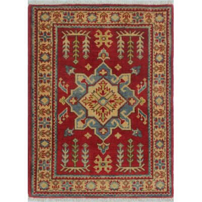 Broyles Kazak Hand Knotted Wool Red Area Rug Rug Size: Rectangle 21 x 211