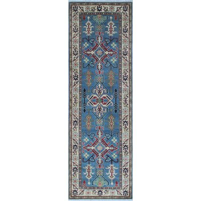 Reichenbach Kazak Hand Knotted Wool Blue Area Rug Rug Size: #N/A