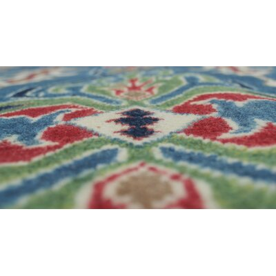 Annemarie Kazak Hand Knotted Wool Blue Area Rug