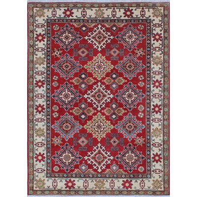 Joie Kazak Hand Knotted Wool Red Area Rug