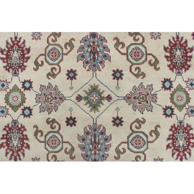 Crillon Kazak Hand Knotted Wool Ivory Area Rug