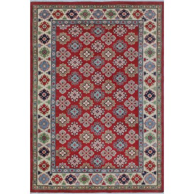 Croglin Kazak Hand Knotted Wool Red Area Rug