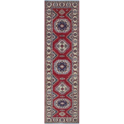 Crosby Kazak Hand Knotted Wool Red Area Rug