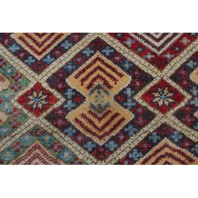 Bruck Kazak Hand Knotted Wool Red Area Rug