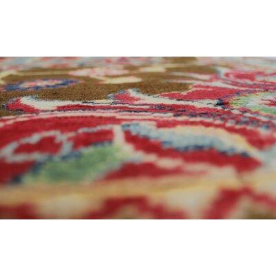 Bruening Kazak Hand Knotted Wool Brown Area Rug