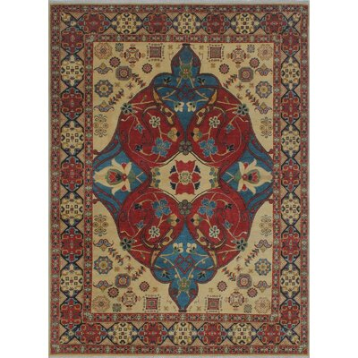 Brugger Kazak Hand Knotted Wool Red Area Rug