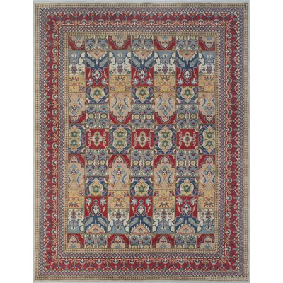Bryce Canyon Kazak Hand Knotted Wool Red Area Rug