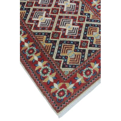 Buda Kazak Hand Knotted Wool Rust Area Rug
