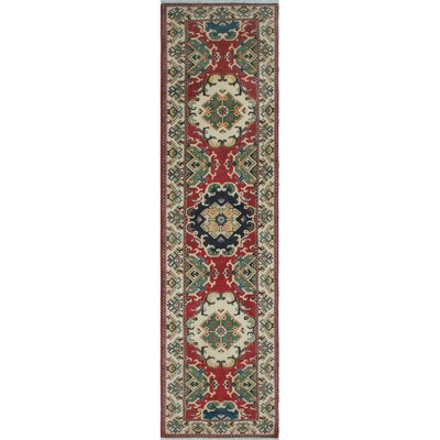 Buffalo Gap Kazak Hand Knotted Wool Red Area Rug
