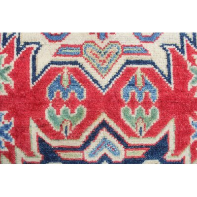 Crown Point Kazak Hand Knotted Wool Red Area Rug