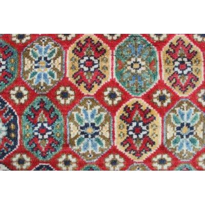 Bullard Kazak Hand Knotted Wool Red Area Rug