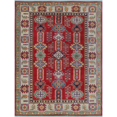 Buller Kazak Hand Knotted Wool Red Area Rug