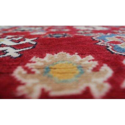 Bullington Kazak Hand Knotted Wool Red Area Rug