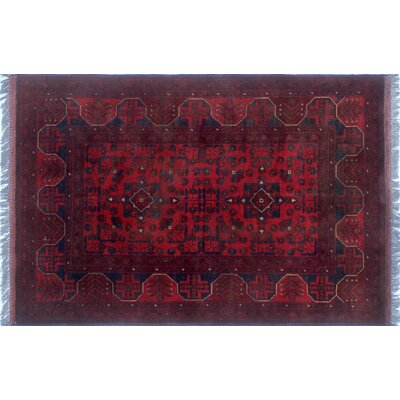 Alban Oriental Hand Knotted Wool Red Area Rug