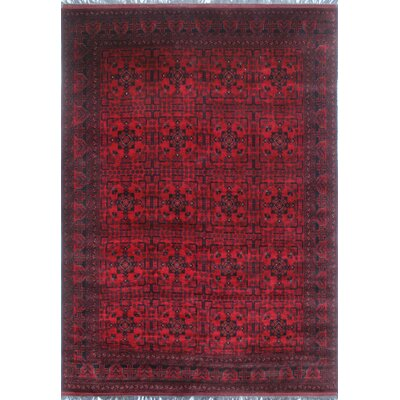 Alban Hand Knotted Red Area Rug
