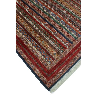 Bulluck Hand Knotted Wool Blue Area Rug