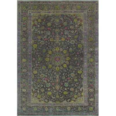 Bogardus Vintage Distressed Hand Knotted Wool Gray Area Rug