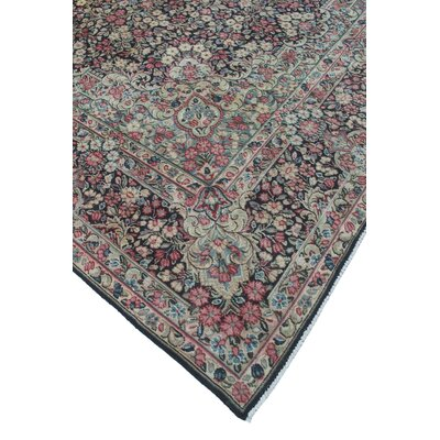 Sanner Vintage Distressed Hand Knotted Wool Blue Area Rug