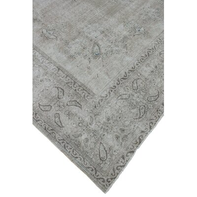 Adah Vintage Distressed Hand Knotted Wool Beige Area Rug