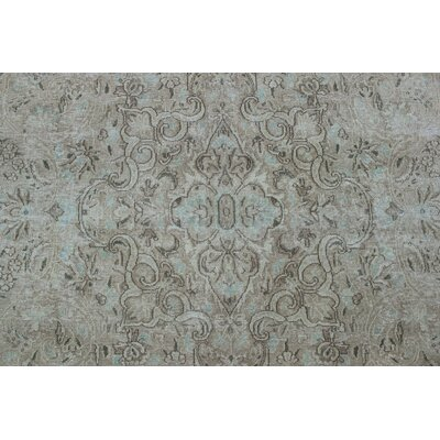 Fremont Vintage Distressed Hand Knotted Wool Beige Area Rug