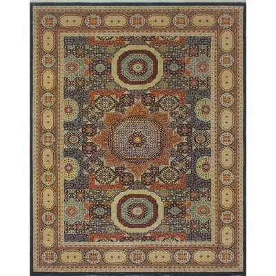 Blanca Hand Knotted Wool Blue Area Rug