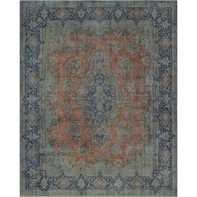 Cubbindall Overdyed Kirman Hand Knotted Wool Rust Area Rug