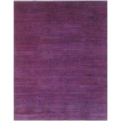 Blakeslee Traditional Hand Knotted Wool Purple Area Rug