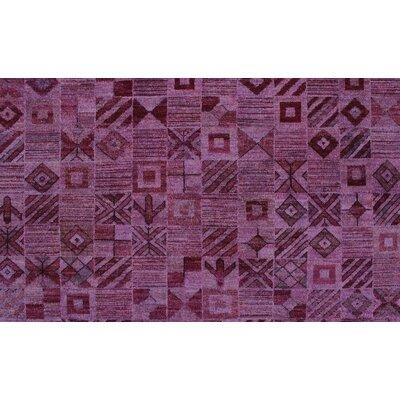 Blakeslee Hand Knotted 100% Wool Purple Area Rug