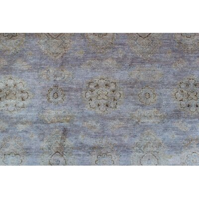 Blakeslee Knotted Wool Gray Area Rug