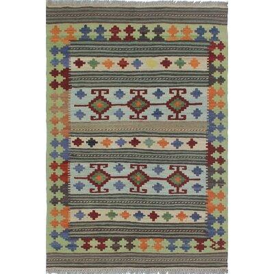 Vallejo Kilim Hand Woven Wool Brown/Beige Area Rug