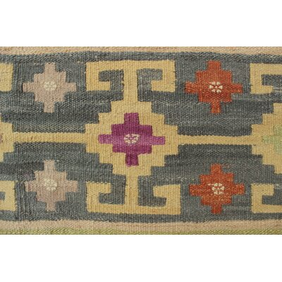 Vallejo Traditional Kilim Hand Woven Premium Wool Beige Area Rug