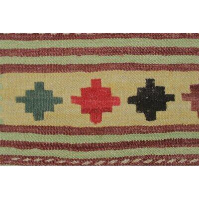Vallejo Traditional Kilim Hand Woven Premium Wool Beige Fringe Area Rug
